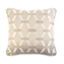 Decorative Throw Pillow with a Brown and Taupe Geometric Print