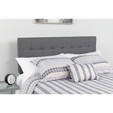 See Details - Bedford Tufted Upholstered Queen Size Headboard in Dark Gray Fabric