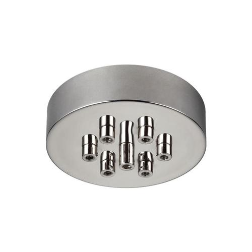 7 - Light Multi-Port Canopy with Swag Hooks Polished Nickel