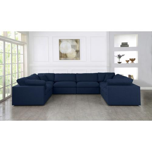 "Serene Linen Deluxe Cloud Modular Down Filled Overstuffed Sectional - 158"" W x 120"" D x 32"" H"