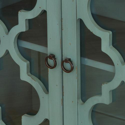 Blue kd two door chest