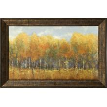 See Details - VIOLET LANDSCAPE  47in w. X 31in ht.  Promotional Textured Framed Print  Made in USA