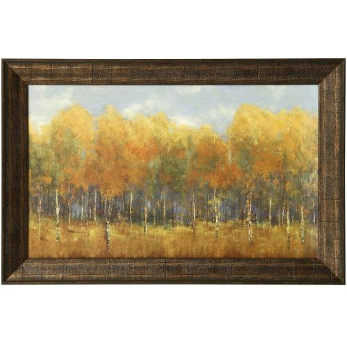 Style Craft - VIOLET LANDSCAPE  47in w. X 31in ht.  Promotional Textured Framed Print  Made in USA