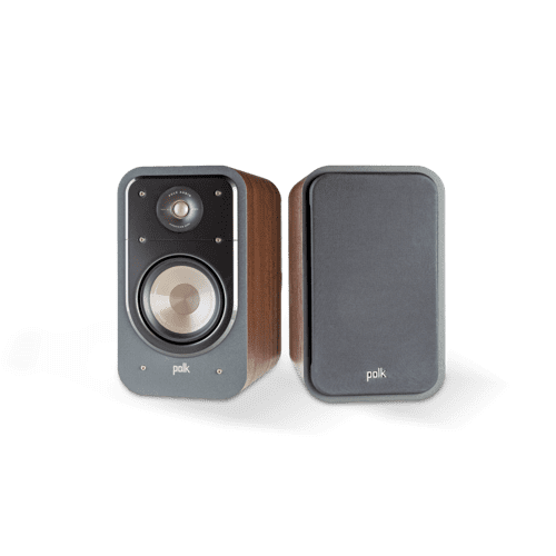 SIGNATURE SERIES HOME THEATER BOOKSHELF SPEAKERS (PAIR) in Classic Brown Walnut