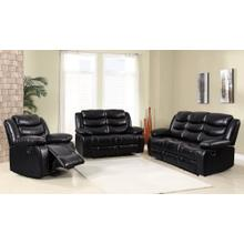 8055 Air Leather Black Loveseat