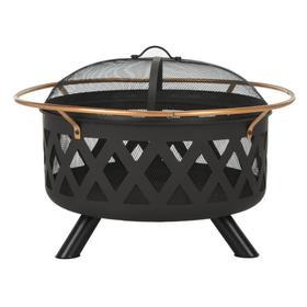 Bryce Round Fire Pit - Copper/black