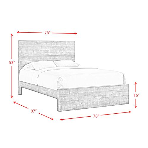 Elements - Bailey Drift King Panel Bed