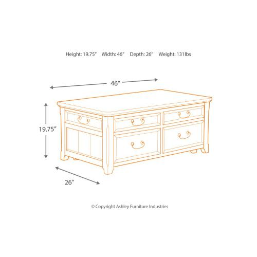 Signature Design By Ashley - Lift Top Cocktail Table (T478-20)