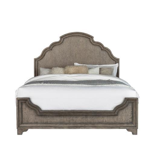 Pulaski Furniture - Bristol Queen Panel Bed Footboard and Slats in Elm Brown