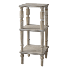 Three Tier Beaded Edge Square Side Table