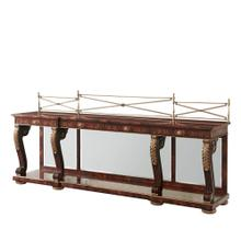 A mahogany breakfront console