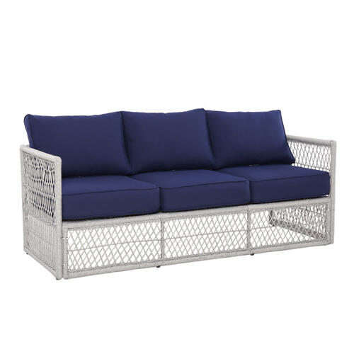 Simple Weave Sofa Frame in Gray