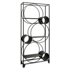 STANTON BOOKSHELF- IRON  Iron Finish on Metal Frame