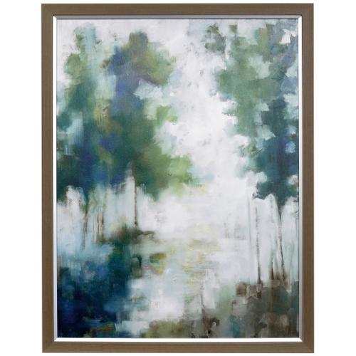 Style Craft - LAKEHOUSE TREES  33in w X 43in ht  Textured Framed Print  Made in USA