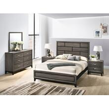 Stout Panel Queen & King Size Bedroom Set with Bed, Dresser, Mirror, 2 Night Stands, Chest, King
