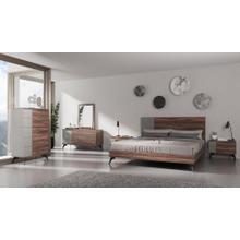 Nova Domus Palermo - Italian Modern Faux Concrete & Noce Bodrum Bedroom Set