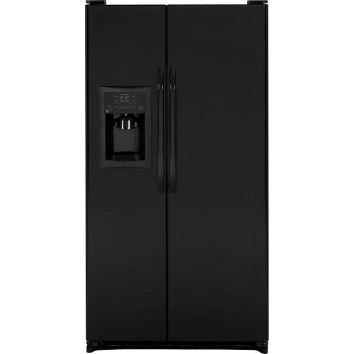 GE® 25.3 Cu. Ft. Side-By-Side Refrigerator (This may be a Stock Photo, actual unit (s) appearance may contain cosmetic blemishes. Please call store if you would like additional pictures). This unit carries our 6 Month warranty, MANUFACTURER WARRANTY and REBATE NOT VALID with this item. ISI 37396 W