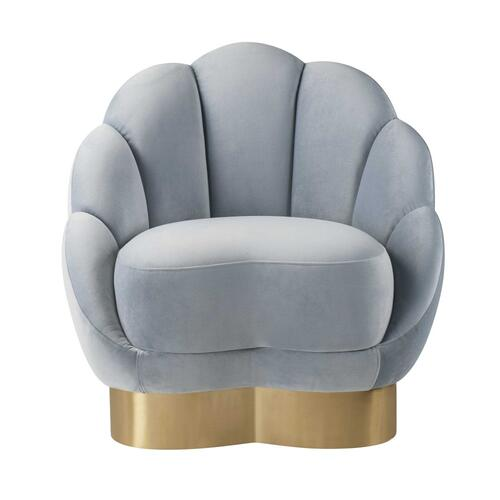 Bloom Sea Blue Velvet Chair