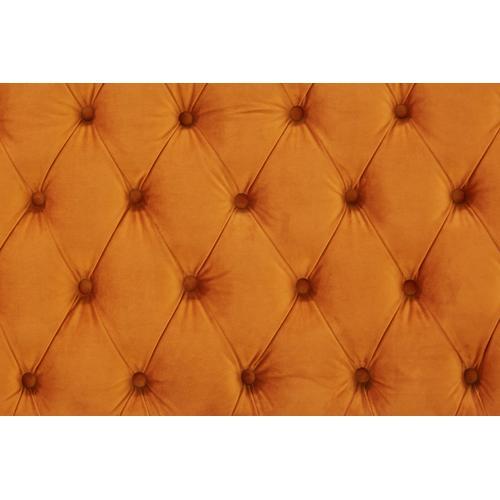 Divani Casa Duarte Modern Orange Velvet Sofa