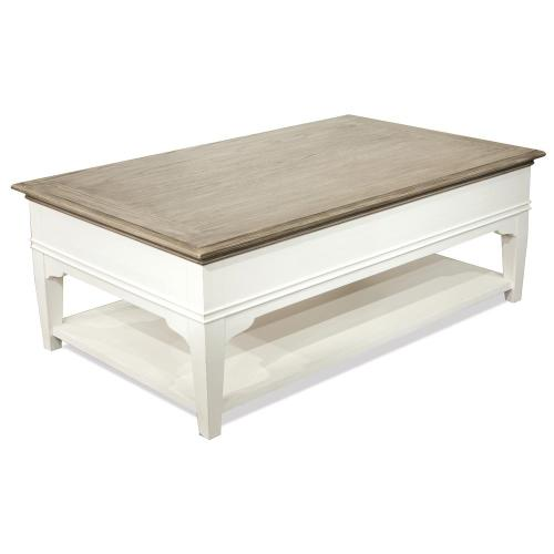 Myra - Leg Coffee Table - Natural/paperwhite Finish