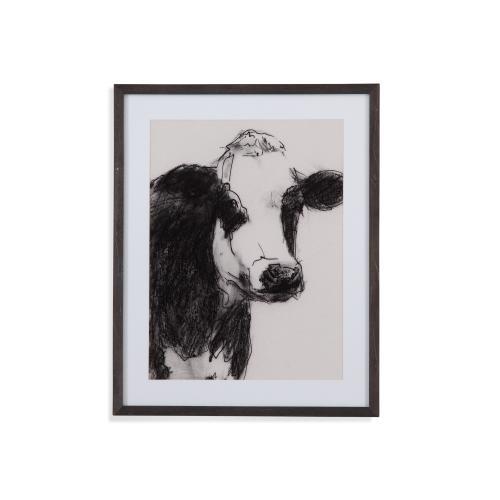 Bassett Mirror Company - Cow Portrait Sketch I
