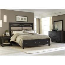 View Product - Queen Storage Bed, Dresser & Mirror, NS