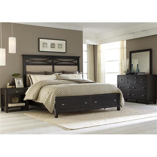 Liberty Furniture Industries - Queen Storage Bed, Dresser & Mirror, NS