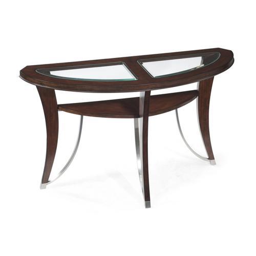 Demilune Sofa Table with shelf