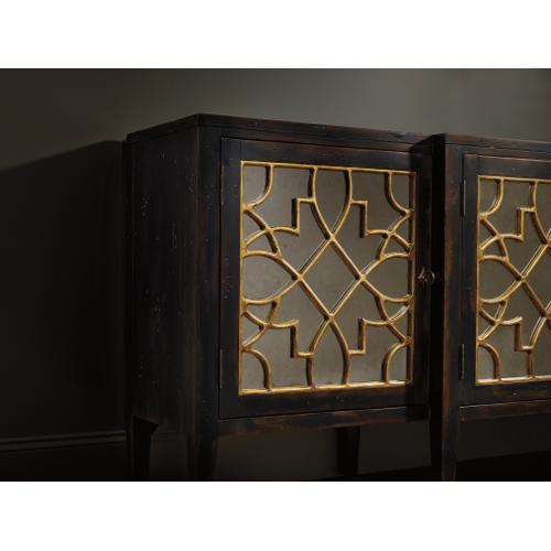 Sanctuary Four Door Mirrored Console- Ebony