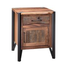 Hampshire 1 Door 1 Drawer Nightstand Hinged Right With Black Metal