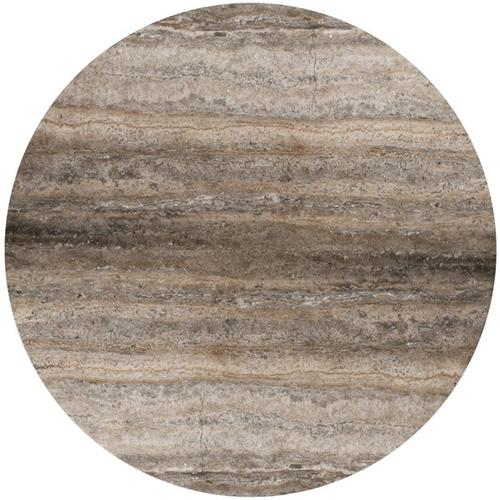 "Silver Travertine 48"" Round Silver Travertine Top, 48"" Round STR-48"