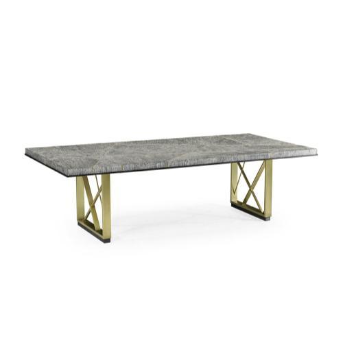 108'' Geometric Rectangular Dark French Oak Dining Table