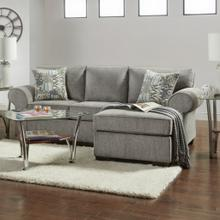 See Details - Marcey Nickel Fabric Sectional Sofa with Pillows