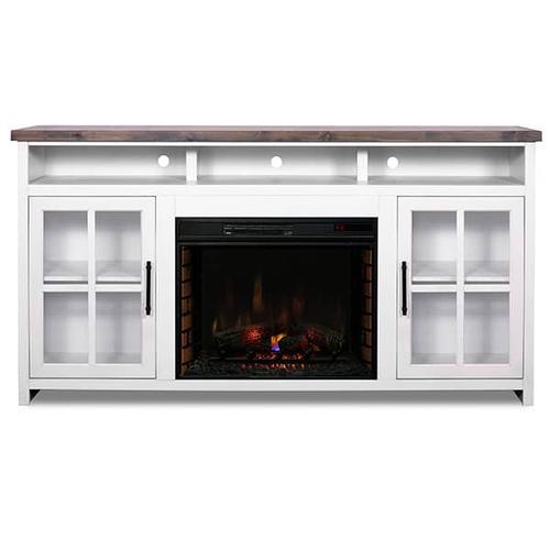"""Legends - Hampton 74"""" Fireplace Console (GL)"""
