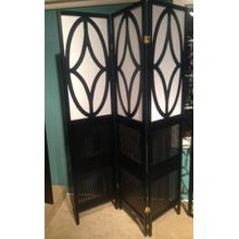See Details - Black and White Folding Screen