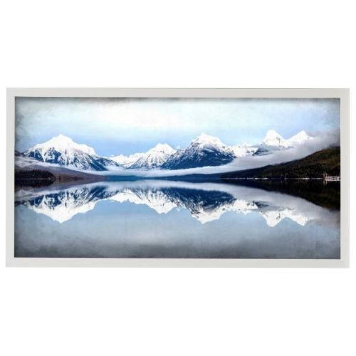 Style Craft - Mountainside Reflection  42in X 22in Promotional Framed Print Under Glass  Ready to Hang