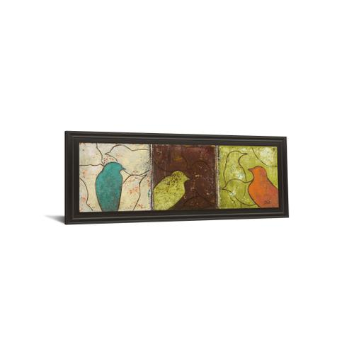 """""""Lovely Birds Il"""" By Patricia Pinto Framed Print Wall Art"""