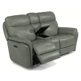 See Details - Zoey Power Reclining Loveseat with Console and Power Headrests