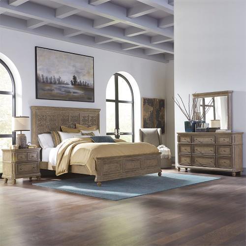 King Opt Panel Bed, Dresser & Mirror, N/S