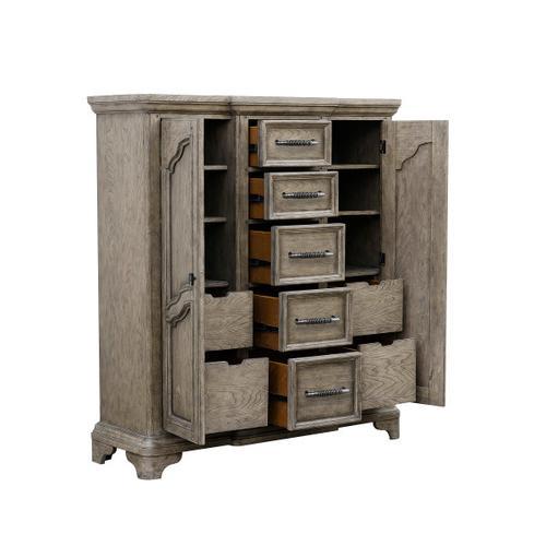 Pulaski Furniture - Bristol 9 Drawer Door Chest in Elm Brown