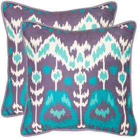 Manhattan Pillow - Aqua / Cream