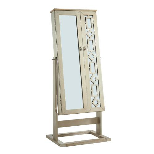 Cheval Mirror With Storage Space, Shimmer