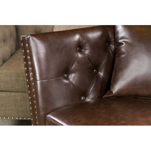 Gallery - Westerly Tufted Arm Chair, Dark Brown