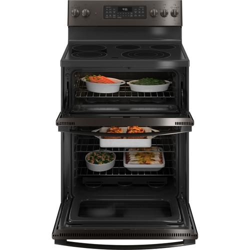 "GE Profile™ 30"" Smart Free-Standing Electric Double Oven Convection Range with No Preheat Air Fry"