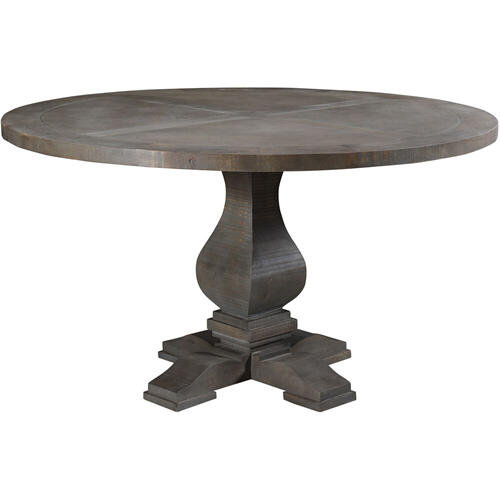 "Cambridge Willoughby 54"" Round Mango Wood Pedestal Dining Table, 982002-RUS"