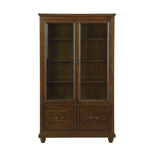 Display Cabinet Bookcase with Storage Drawers (Component 1 of 2)