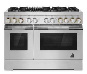 """RISE™ 48"""" Dual-Fuel Professional-Style Range with Grill"""