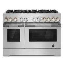 """See Details - RISE™ 48"""" Dual-Fuel Professional-Style Range with Grill"""