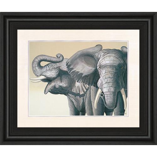 """Elephant"" By Peter Moustakas Framed Print Wall Art"