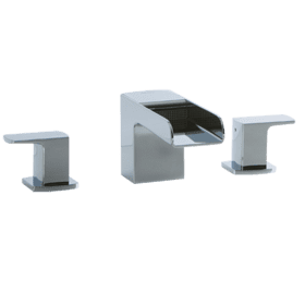 Kascade 3-Hole Deck Mount Tub Filler Chrome